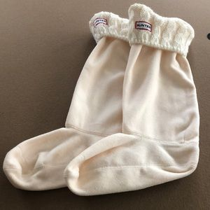 Hunter boot socks cream